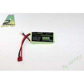 """Batterie LiPo 7,4v PEQ 1000 mAh """"T-Type"""" (GunPowder) AC-GP9100320 Batteries"""