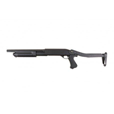 replique-Fusil Pompe M870 Court Crosse Pliable Burst-3 Billes (Cyma) -airsoft-RE-CMCM352/ST00067