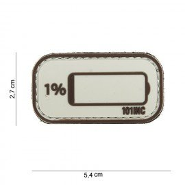 101 INC 3D PVC Patch Low Battery Desert (101 Inc) AC-WP4441003928 PVC Patch