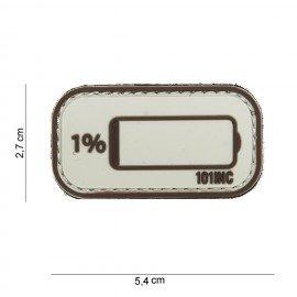 Patch per deserto 3D a batteria scarica in PVC (101 Inc)
