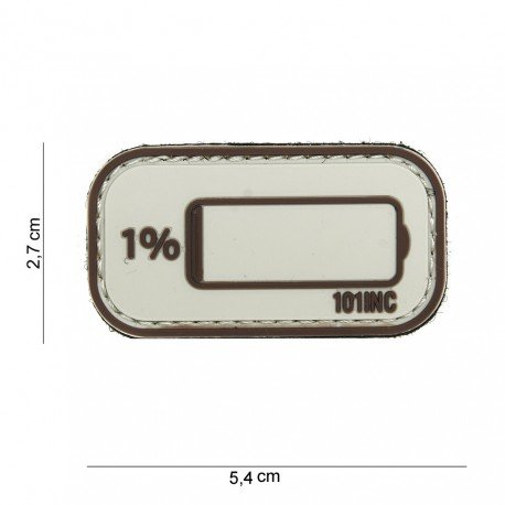 101 INC Patch 3D PVC Low Battery Desert (101 Inc) AC-WP4441003928 Patch en PVC