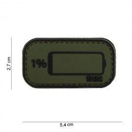 Parche 3D de batería baja de PVC (101 inc.)