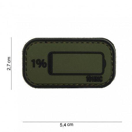 101 INC Patch 3D PVC Low Battery OD (101 Inc) AC-WP4441003929 Patch en PVC