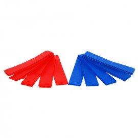 101 INC Paquete 10x Brazalete de parche del equipo (5x Rojo 5x Azul) Parche del equipo AC-WP359810