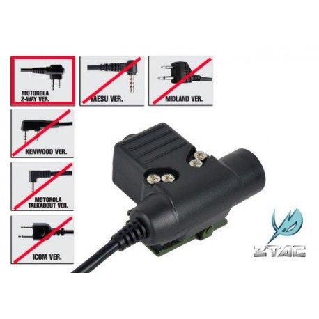 ELEMENT Z-Tactical PTT Motorola Connecteur Double (Element) AC-ELZ113MOT-2 Communication & Radio