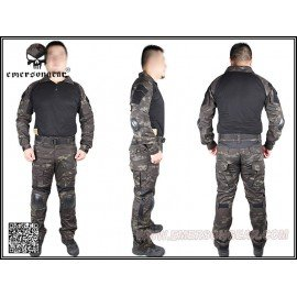 Emerson Combat Set G2 Black Multicam S