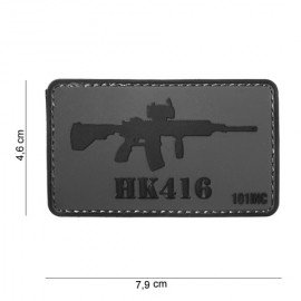 101 INC Patch 3D PVC HK416 Noir & Gris AC-WP4441304041 Patch en PVC