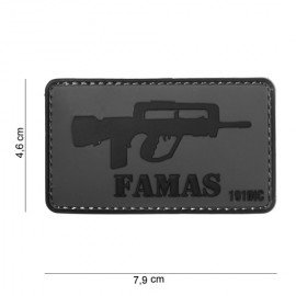 101 INC Patch 3D PVC Famas (101 Inc) AC-WP4441304032 Patch en PVC