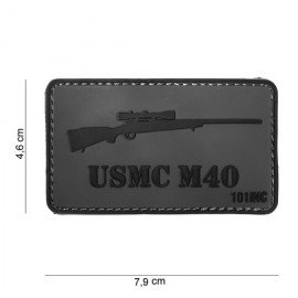 Patch 3D PVC Sniper USMC M40 (101 Inc)