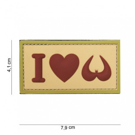 101 INC Patch 3D PVC I love Boobies Desert (101 Inc) AC-WP4441303978 Patch en PVC