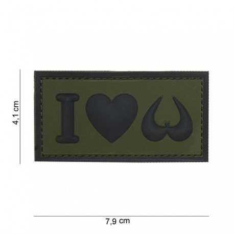 101 INC Patch 3D PVC I love Boobies OD (101 Inc) AC-WP4441303980 Patch en PVC