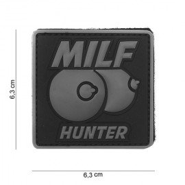 PVC 3D Patch Milf hunter Grigio (101 Inc)