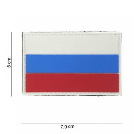 101 INC Patch 3D PVC Drapeau Russie (101 Inc) AC-WP4441303799 Patch en PVC