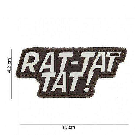 101 INC Patch 3D PVC Rat-tat tat Marron (101 Inc) AC-WP4441303947 Patch en PVC