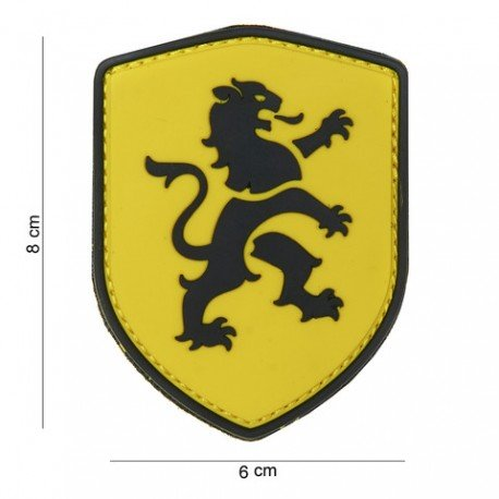 101 INC Patch 3D PVC Lion Jaune (101 Inc) AC-WP4441303795 Patch en PVC