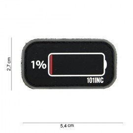 3D PVC Patch Low Battery Nero (101 Inc)
