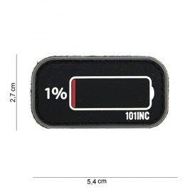 Parche de PVC 3D Batería baja negra (101 inc.)
