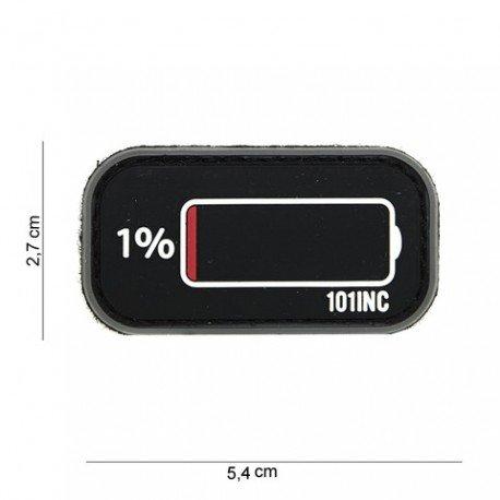101 INC Patch 3D PVC Low Battery Noir (101 Inc) AC-WP4441003931 Patch en PVC
