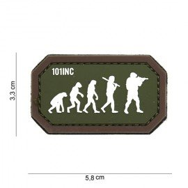 Patch 3D PVC Airsoft Evolution OD & Brown (101 Inc)
