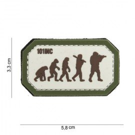 Patch 3D PVC Airsoft Evolution Desert & OD (101 Inc)