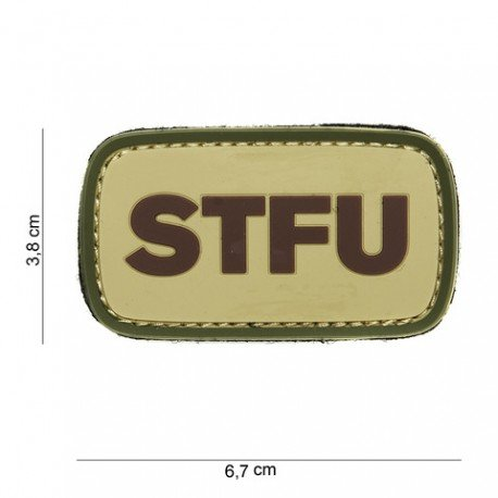 101 INC Patch 3D PVC STFU OD (101 Inc) AC-WP4441003859 Patch en PVC