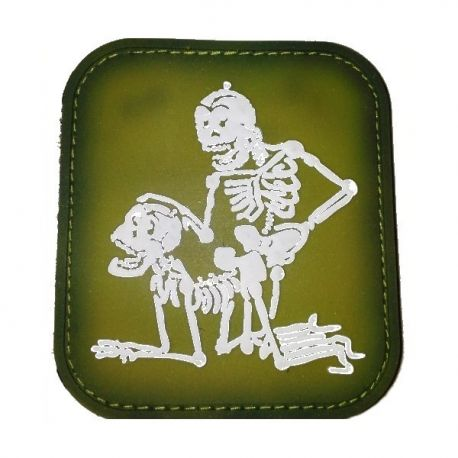 101 INC Patch 3D PVC Deux Squelettes OD (101 Inc) AC-WP4441103520OD Patch en PVC