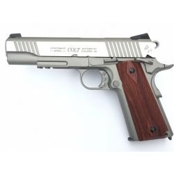 KWC Colt 1911 Acero Inoxidable Rail Co2 (Swiss Arms 180530)