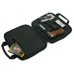 CYBERGUN Swiss Arms Housse / Sacoche Double Pistolets Noir AC-CB604055 Sac et Mallette