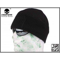 Schwarze Fleece-Mütze (Emerson)