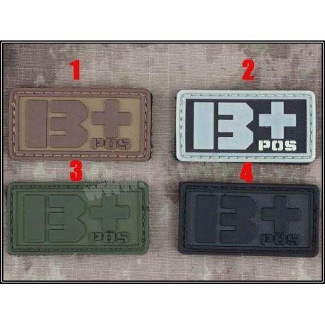 Emerson Patch 3D PVC Sanguin B+ Gris (Emerson) AC-EMBD5515A Patch en PVC