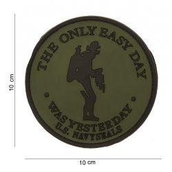 3D-PVC-Patch The Only Easy Day OD (101 Inc)