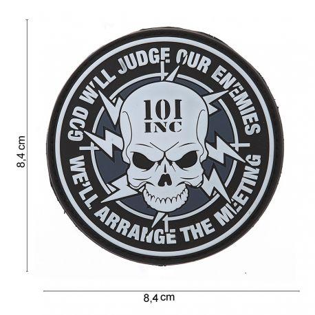 101 INC Patch 3D PVC God Will Judge (101 Inc) AC-WP4441403556 Patch en PVC