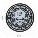 "Patch 3D PVC ""God Will Judge Our Enemies"" (101 Inc)"