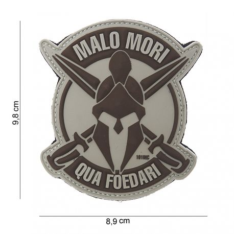 101 INC Patch 3D PVC Malo Mori Gris (101 Inc) AC-WP4441803824 Patch en PVC