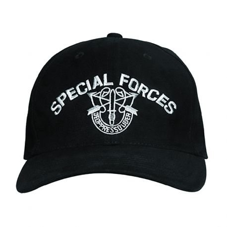 101 INC Casquette Baseball Special Forces Noir (101 Inc) HA-WP215150218 Casquette / Chapeau