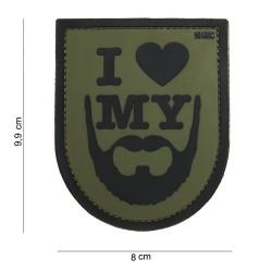 Patch 3D in PVC I Love My Beard OD (101 Inc)