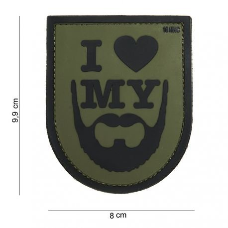 101 INC Patch 3D PVC I Love My Beard OD AC-WP4441803881 Patch en PVC