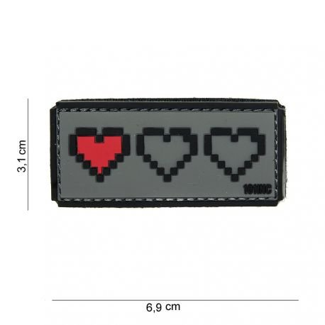 101 INC Patch 3D PVC Derniere Vie Gris AC-WP4441003866 Patch en PVC