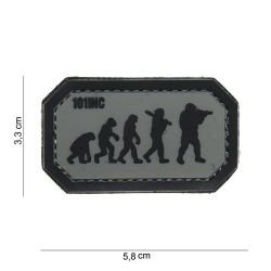 101 INC Patch 3D PVC Airsoft Evolution Gris / Noir AC-WP4441003926 Patch en PVC