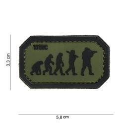 Patch 3D PVC Airsoft Evolution Noir et Vert