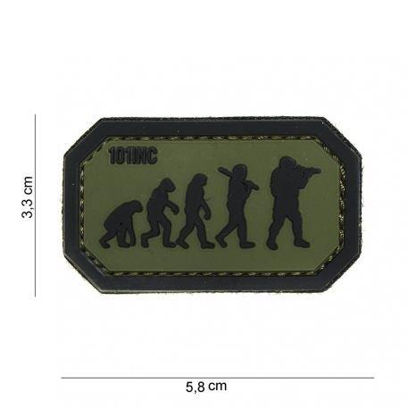 101 INC Patch 3D PVC Airsoft Evolution Noir et Vert AC-WP4441003927 Patch en PVC