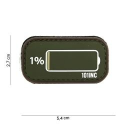 Patch 3D PVC Low Battery OD & Coyote (101 Inc)