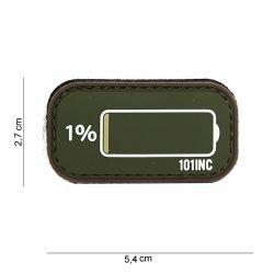 Patch in PVC Coyote a bassa batteria in PVC 3D