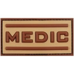 "Patch 3D PVC ""Medic"" Desert (101 Inc)"