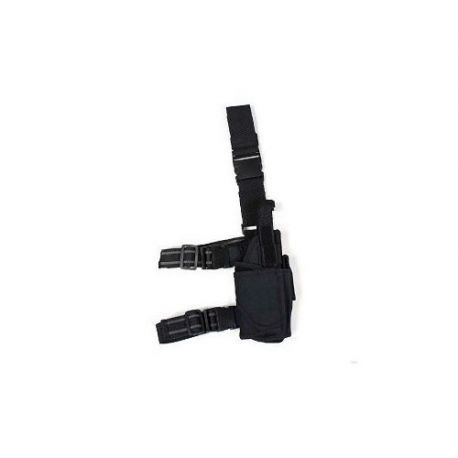 101 INC Holster Cuisse Noir Modulable (101 Inc) AC-WP355436BK Holster