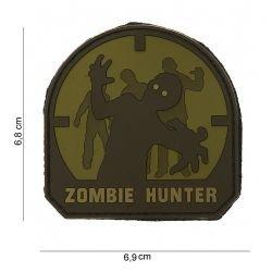 3D PVC Zombie Hunter OD Patch e nero (101 Inc)