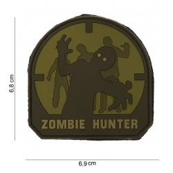 3D PVC Zombie Hunter OD Patch & Schwarz (101 Inc)