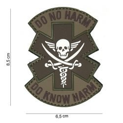 Patch 3D PVC Do No Harm Blanc & Marron (101 Inc)