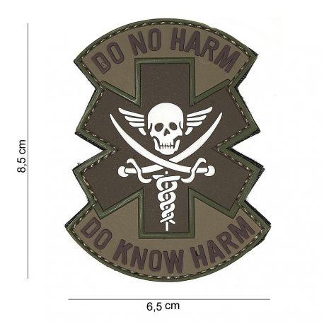 101 INC Patch 3D PVC Do No Harm Blanc & Marron (101 Inc) AC-WP4441804062 Patch en PVC