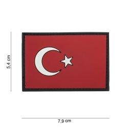 Patch 3D PVC Drapeau Turquie (101 Inc)